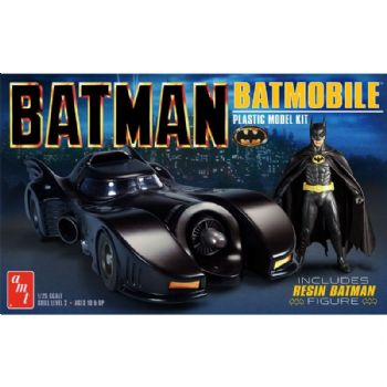 Batman Batmobile 1:25 Scale Model Kit With Resin Batman Figure